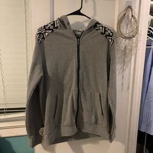 Forever 21 gray zip up sweater sz large